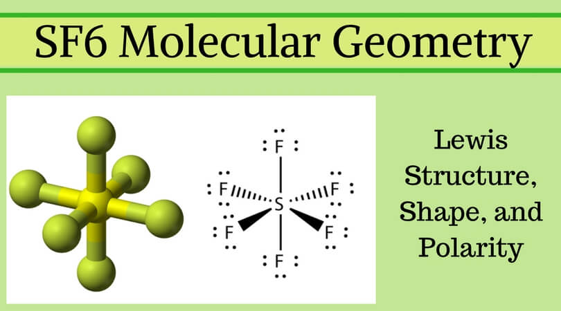 SF6 molecular geometry, Lewis Structure, Shape, and Polarity