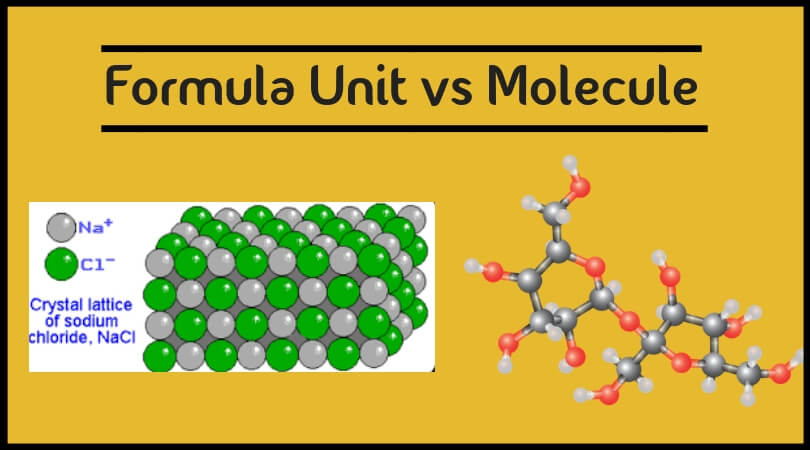 Formula Unit vs Molecule