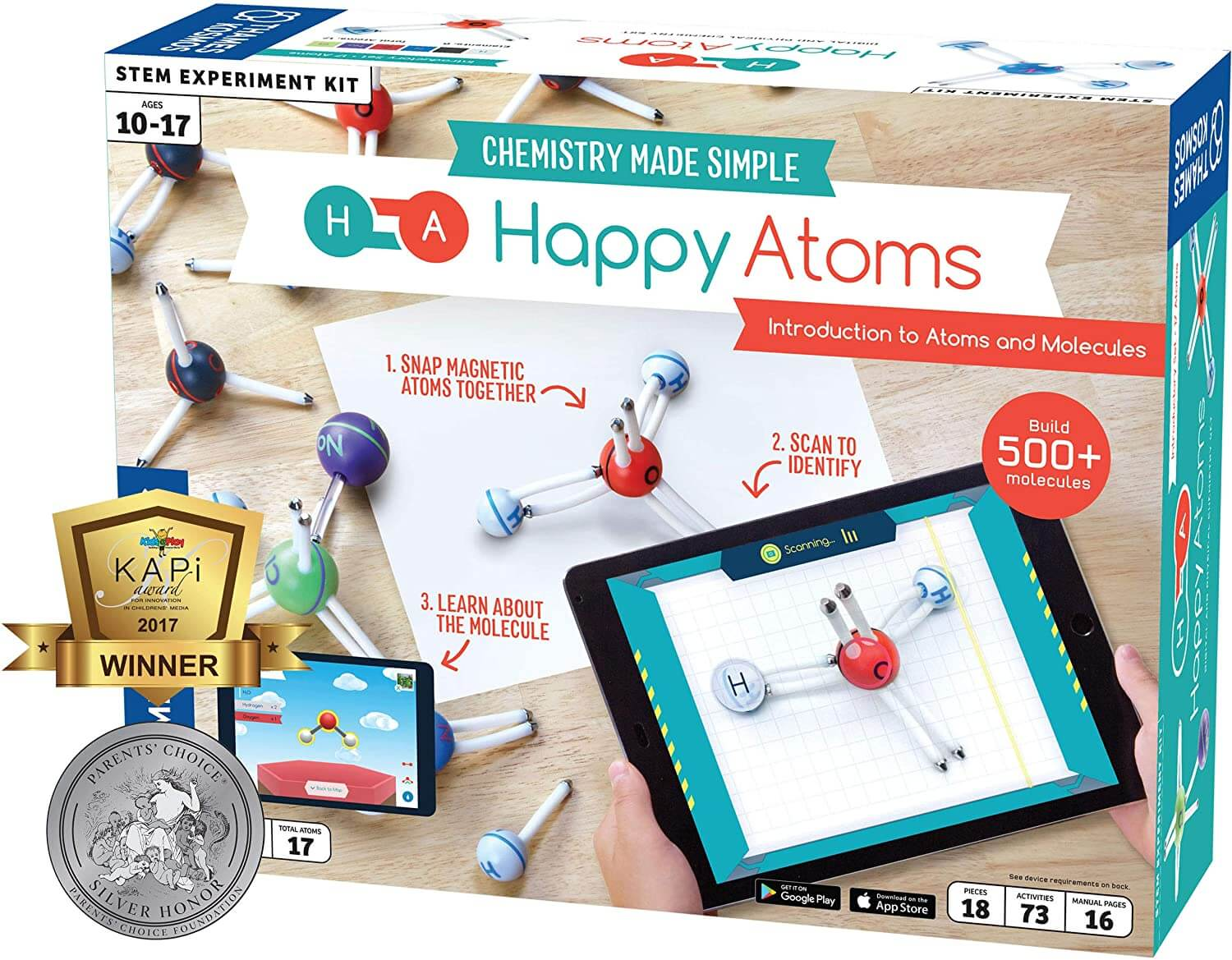 Happy Atoms Magnetic Molecular kit