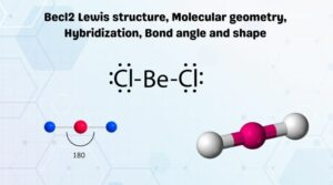 Becl2 Lewis structure, Molecular geometry