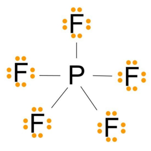 PF5 VALENCE ELECTRONS