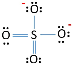 SO42- lewis structure